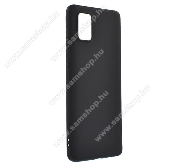 SAMSUNG Galaxy A71 (SM-A715F)Szilikon védő tok / hátlap - MATT - FEKETE - SAMSUNG SM-A715F Galaxy A71