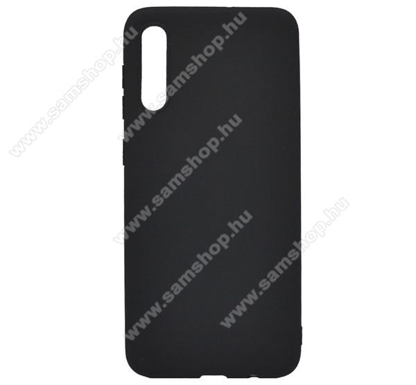 Szilikon védő tok / hátlap - MATT - FEKETE - SAMSUNG SM-A307F Galaxy A30s / SAMSUNG SM-A505F Galaxy A50 / SAMSUNG Galaxy A50s