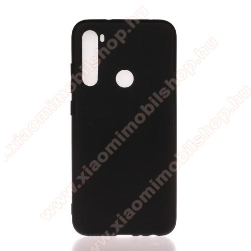 Xiaomi Redmi Note 8Szilikon védő tok / hátlap - MATT - FEKETE - Xiaomi Redmi Note 8