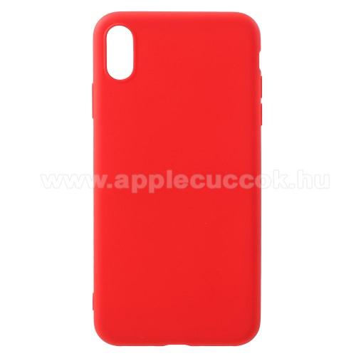 Szilikon védő tok / hátlap - MATT PIROS - APPLE iPhone XS Max
