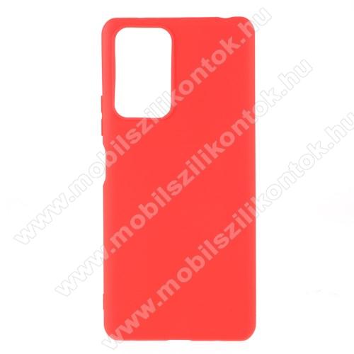 Szilikon védő tok / hátlap - MATT - PIROS - Xiaomi Redmi Note 10 Pro / Redmi Note 10 Pro Max
