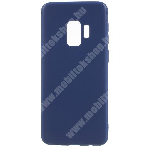 Szilikon védő tok / hátlap - MATT - SÖTÉTKÉK - SAMSUNG SM-G960 Galaxy S9