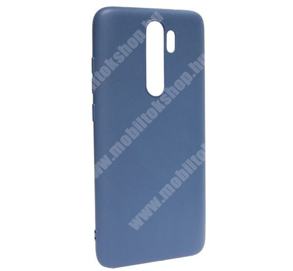 Szilikon védő tok / hátlap - MATT - SÖTÉTKÉK - Xiaomi Redmi Note 8 Pro