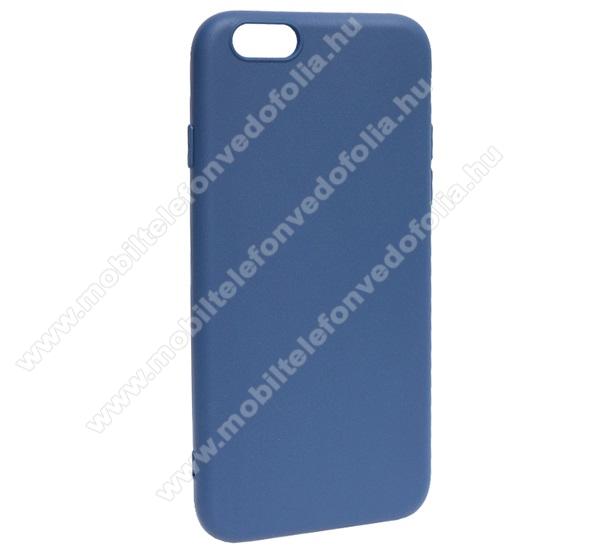 Szilikon védő tok / hátlap - MATT - SÖTÉTKÉK - APPLE iPhone 6 / APPLE iPhone 6s