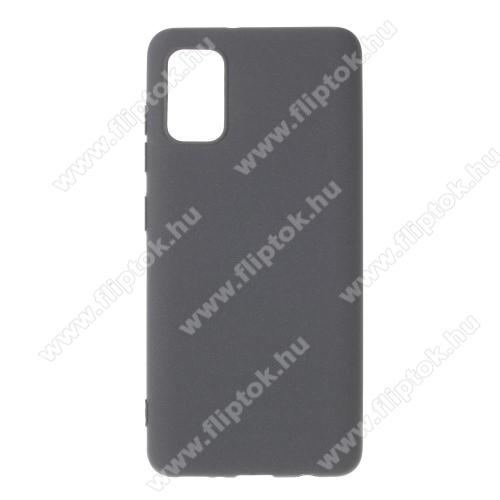 Szilikon védő tok / hátlap - MATT - SZÜRKE - SAMSUNG Galaxy A41 (SM-A415F)