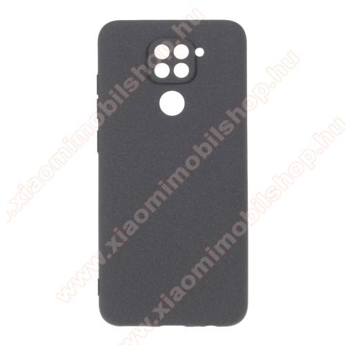 Szilikon védő tok / hátlap - MATT - SZÜRKE - Xiaomi Redmi Note 9 / Xiaomi Redmi 10X 4G