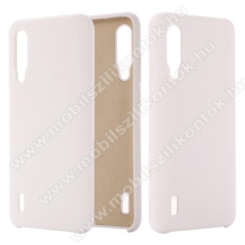 Szilikon védő tok / hátlap - mikroszálas szövettel bevont belsővel - FEHÉR - Xiaomi Mi 9 Lite / Xiaomi Mi CC9