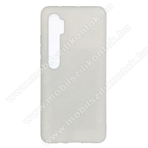 Szilikon védő tok / hátlap - mikroszálas szövettel bevont belsővel - FEHÉR - Xiaomi Mi Note 10 / Xiaomi Mi Note 10 Pro / Xiaomi Mi CC9 Pro