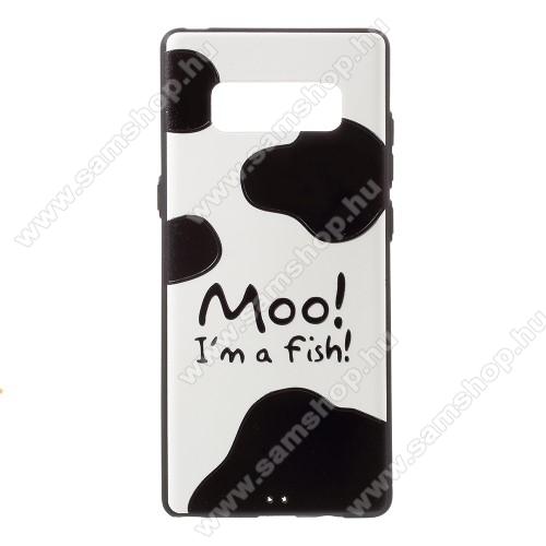 Szilikon védő tok / hátlap - Moo I am a Fish MINTÁS - SAMSUNG SM-N950F Galaxy Note8