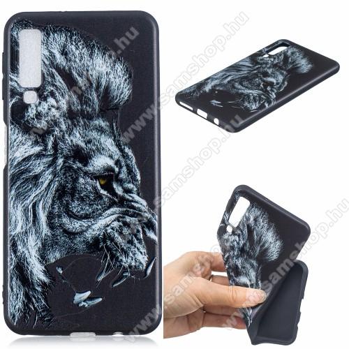 Szilikon védő tok / hátlap - OROSZLÁN MINTÁS - SAMSUNG SM-A750F Galaxy A7 (2018)