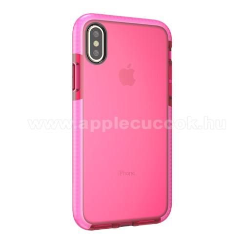 Szilikon védő tok / hátlap - RÓZSASZÍN / PIROS - APPLE iPhone X / APPLE iPhone XS