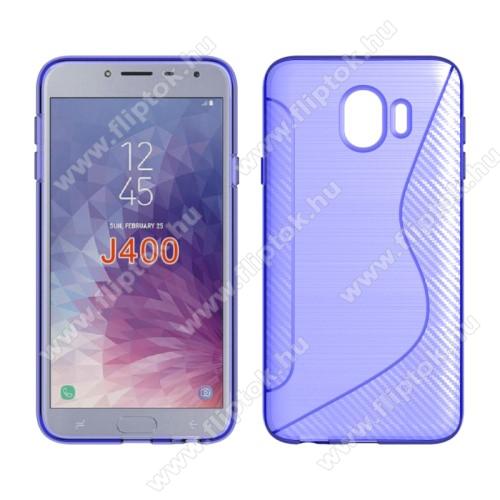 Szilikon védő tok / hátlap - S-Line, karbon mintás - LILA - SAMSUNG SM-J400F Galaxy J4 (2018)