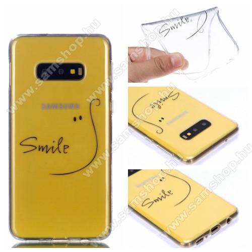 Szilikon védő tok / hátlap - SMILE MINTÁS - ÁTLÁTSZÓ - SAMSUNG SM-G970F Galaxy S10e