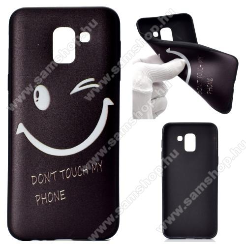 Szilikon védő tok / hátlap - SMILE MINTÁS - SAMSUNG SM-J600F Galaxy J6 (2018)