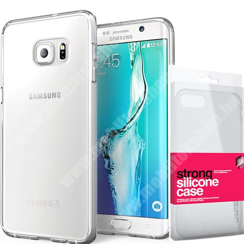 Szilikon védő tok / hátlap - STRONG 2mm - ÁTLÁTSZÓ - SAMSUNG SM-G925F Galaxy S6 Edge