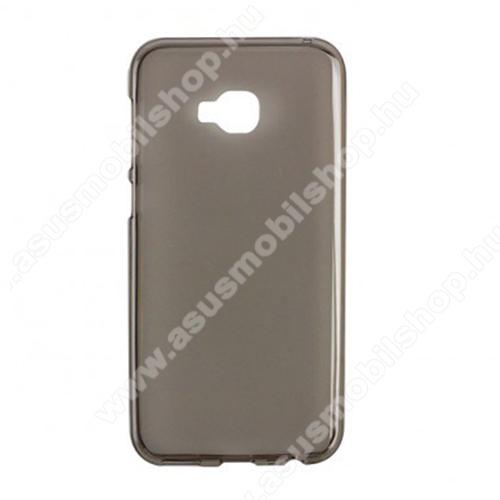Szilikon védő tok / hátlap - SZÜRKE - fényes keret, matt hátlap - ASUS Zenfone 4 Selfie Pro (ZD552KL)