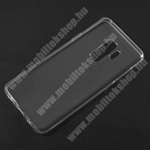 Szilikon védő tok / hátlap - ULTRAVÉKONY! 0,6mm - ÁTLÁTSZÓ - SAMSUNG SM-G965 Galaxy S9+