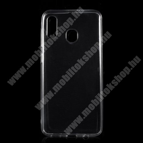 SAMSUNG Galaxy A30 (SM-A305F) Szilikon védő tok / hátlap - ULTRAVÉKONY! 0,5mm - ÁTLÁTSZÓ - SAMSUNG SM-A305F Galaxy A30 / SAMSUNG SM-A205F Galaxy A20 / SAMSUNG SM-M107F Galaxy M10s