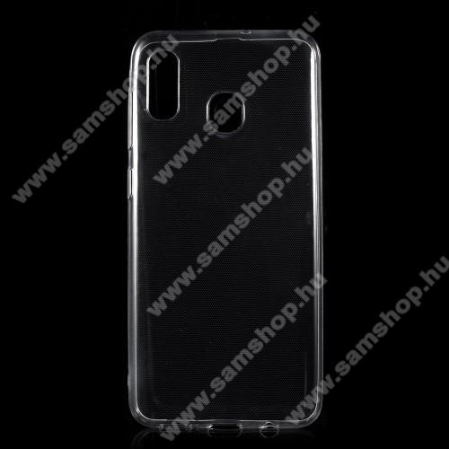 SAMSUNG Galaxy A20 (SM-A205F)Szilikon védő tok / hátlap - ULTRAVÉKONY! 0,5mm - ÁTLÁTSZÓ - SAMSUNG SM-A305F Galaxy A30 / SAMSUNG SM-A205F Galaxy A20 / SAMSUNG SM-M107F Galaxy M10s