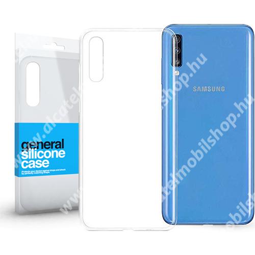 Szilikon védő tok / hátlap - ULTRAVÉKONY! 0.33mm - ÁTLÁTSZÓ - SAMSUNG SM-A705F Galaxy A70