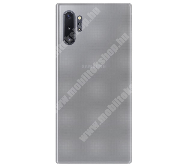Szilikon védő tok / hátlap - ULTRAVÉKONY! 0,6mm - ÁTLÁTSZÓ - SAMSUNG SM-N975F Galaxy Note10+ / SAMSUNG SM-N976F Galaxy Note10+ 5G