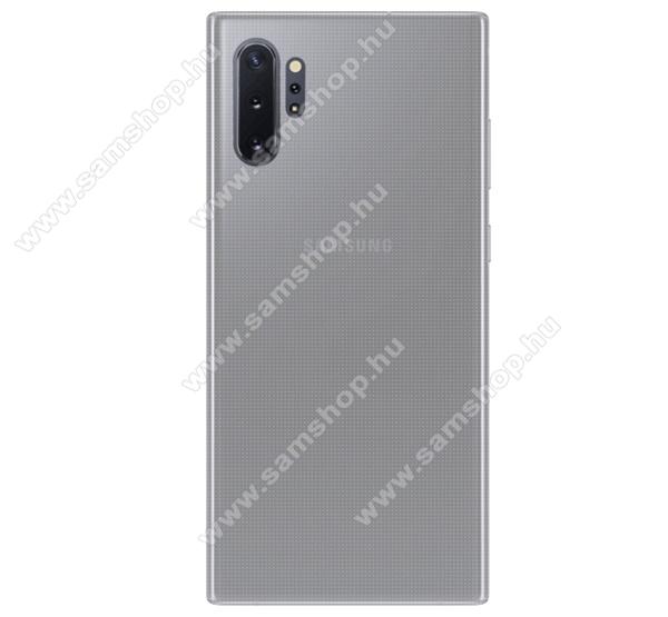 Szilikon védő tok / hátlap - ULTRAVÉKONY! 0,6mm - ÁTLÁTSZÓ - SAMSUNG Galaxy Note10 Plus (SM-N975F) / SAMSUNG Galaxy Note10 Plus 5G (SM-N976F)