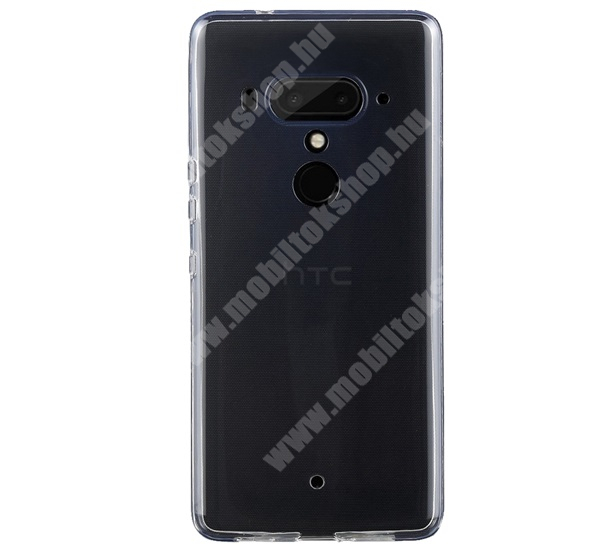 Szilikon védő tok / hátlap - ULTRAVÉKONY! 0,6mm - ÁTLÁTSZÓ - HTC U12+