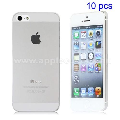 APPLE IPhone 5SSzilikon védő tok / hátlap - ULTRAVÉKONY! 0,8mm - ÁTLÁTSZÓ - Apple IPhone 5 / Apple IPhone 5S