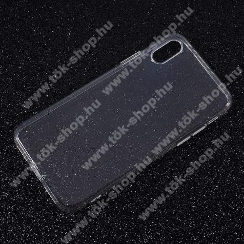 Szilikon védő tok / hátlap - ULTRAVÉKONY! 0,6mm - ÁTLÁTSZÓ - APPLE iPhone X / APPLE iPhone XS