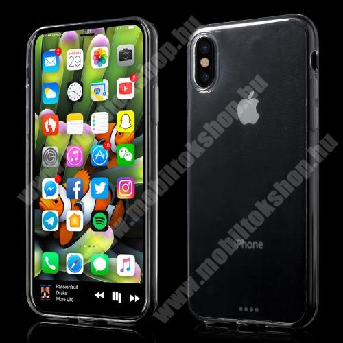 APPLE iPhone XS Szilikon védő tok / hátlap - ULTRAVÉKONY! 0,6mm - ÁTLÁTSZÓ - APPLE iPhone X / APPLE iPhone XS