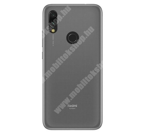 Szilikon védő tok / hátlap - ULTRAVÉKONY! - ÁTLÁTSZÓ - Xiaomi Redmi 7 / Xiaomi Redmi Y3