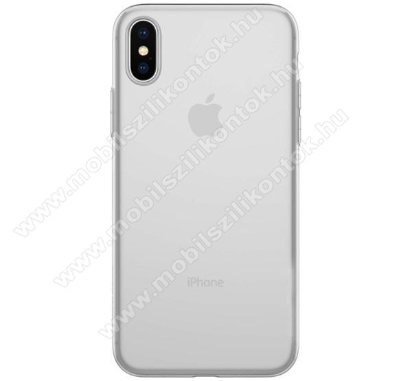 Szilikon védő tok / hátlap - ULTRAVÉKONY! - ÁTLÁTSZÓ - APPLE iPhone X / APPLE iPhone XS