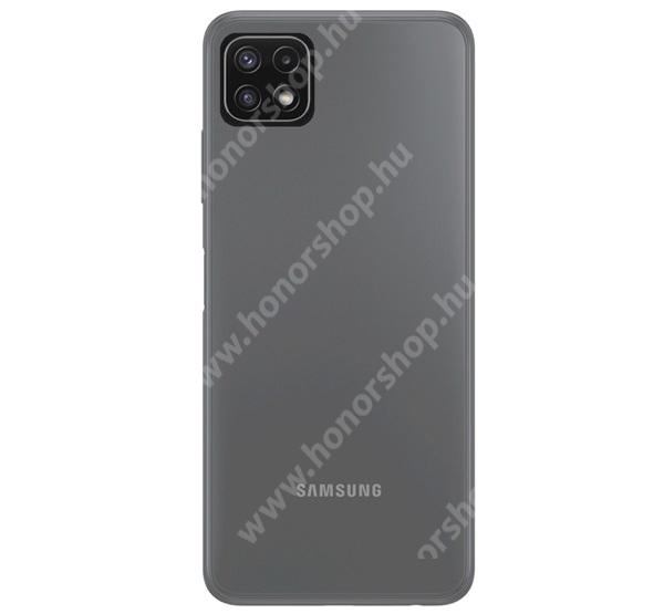 Szilikon védő tok / hátlap - ULTRAVÉKONY! - ÁTLÁTSZÓ - SAMSUNG Galaxy A22 5G (SM-A226)