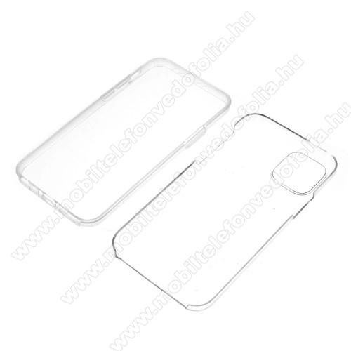 Szilikon védő tok / műanyag hátlap - szilikon előlap és műanyag hátlap védő, 360 fokos védelem! - ÁTLÁTSZÓ - APPLE iPhone 11 Pro Max