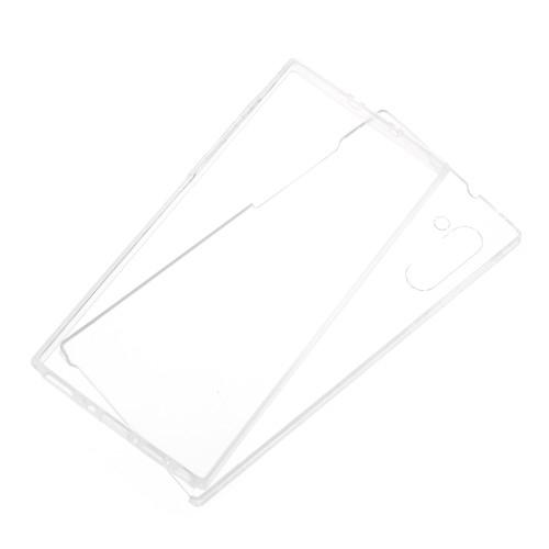 Szilikon védő tok / műanyag hátlap - szilikon előlap és műanyag hátlap védő, 360 fokos védelem! - ÁTLÁTSZÓ - SAMSUNG SM-N970F Galaxy Note10 / SAMSUNG SM-N971U Galaxy Note10 5G