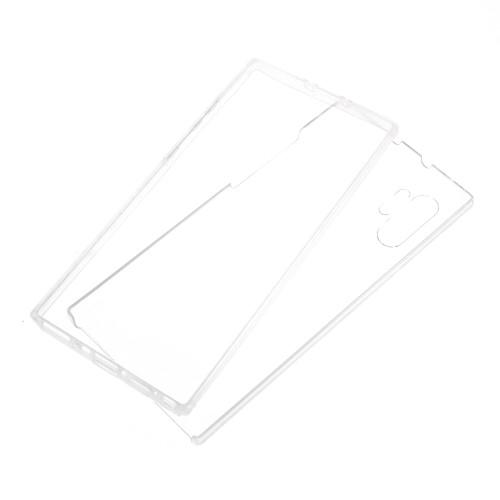 Szilikon védő tok / műanyag hátlap - szilikon előlap és műanyag hátlap védő, 360 fokos védelem! - ÁTLÁTSZÓ - SAMSUNG SM-N975F Galaxy Note10+ / SAMSUNG SM-N976F Galaxy Note10+ 5G