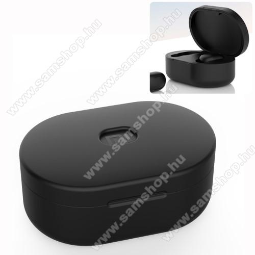 SAMSUNG A887 SolsticeSzilikon védő tok XIAOMI Redmi AirDots bluetooth headset-hez - töltőnyílás, 1,2mm vékony - FEKETE
