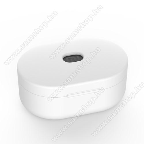 SAMSUNG A887 SolsticeSzilikon védő tok XIAOMI Redmi AirDots bluetooth headset-hez - töltőnyílás, 1,2mm vékony - FEHÉR