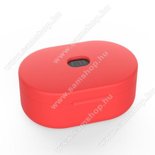SAMSUNG A887 SolsticeSzilikon védő tok XIAOMI Redmi AirDots bluetooth headset-hez - töltőnyílás, 1,2mm vékony - PIROS