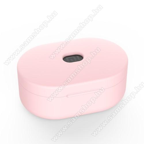 SAMSUNG A887 SolsticeSzilikon védő tok XIAOMI Redmi AirDots bluetooth headset-hez - töltőnyílás, 1,2mm vékony - RÓZSASZÍN