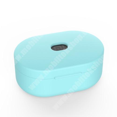 ZTE Blade Qlux 4G Szilikon védő tok XIAOMI Redmi AirDots bluetooth headset-hez - töltőnyílás, 1,2mm vékony - ZÖLD