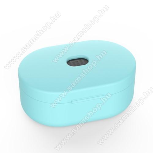 SAMSUNG A887 SolsticeSzilikon védő tok XIAOMI Redmi AirDots bluetooth headset-hez - töltőnyílás, 1,2mm vékony - ZÖLD