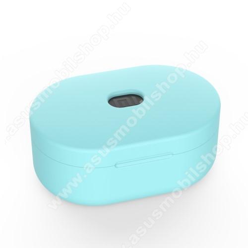 Szilikon védő tok XIAOMI Redmi AirDots bluetooth headset-hez - töltőnyílás, 1,2mm vékony - ZÖLD