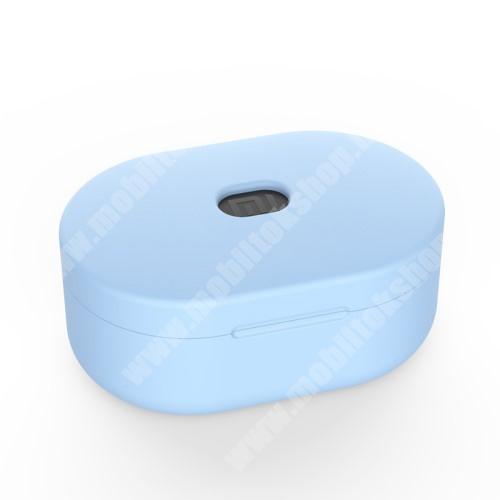 ZTE Blade Qlux 4G Szilikon védő tok XIAOMI Redmi AirDots bluetooth headset-hez - töltőnyílás, 1,2mm vékony - VILÁGOSKÉK
