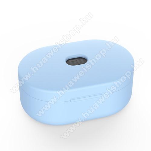 Szilikon védő tok XIAOMI Redmi AirDots bluetooth headset-hez - töltőnyílás, 1,2mm vékony - VILÁGOSKÉK