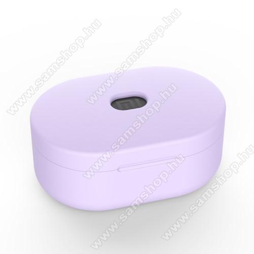 SAMSUNG A887 SolsticeSzilikon védő tok XIAOMI Redmi AirDots bluetooth headset-hez - töltőnyílás, 1,2mm vékony - LILA