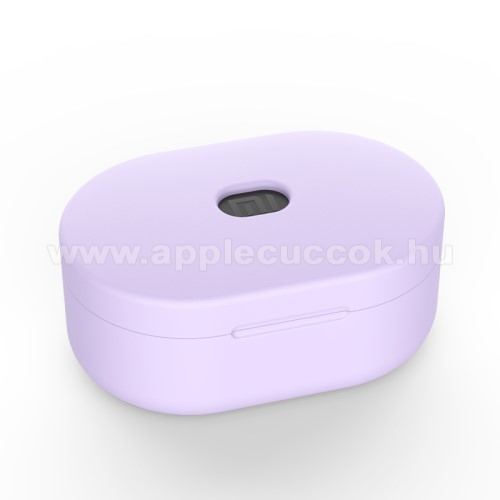 Szilikon védő tok XIAOMI Redmi AirDots bluetooth headset-hez - töltőnyílás, 1,2mm vékony - LILA