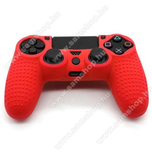Szilikon védőtok SONY PS4 kontrollerhez - PIROS