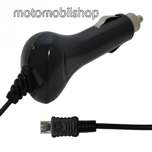 Szivargyújtó töltő/autós töltő - 12-24VDC, 5V / 1000 mAh, rövidzár védelem, MicroUSB