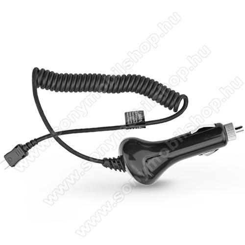 SONY Xperia XA2Szivargyújtó töltő/autós töltő - USB 3.1 Type-C spirál kábellel, 12-24VDC, DC 5V / 2A - FEKETE